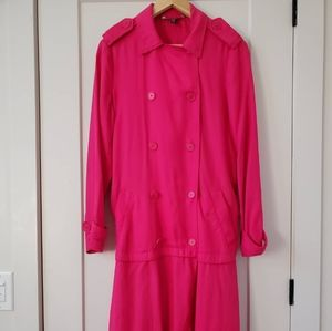 Hot Pink Trench Coat from Zara